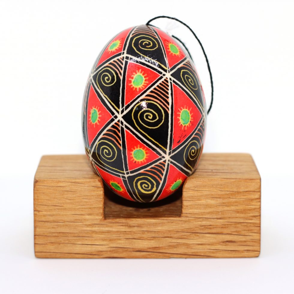 Hand written and dyed ukrainian egg