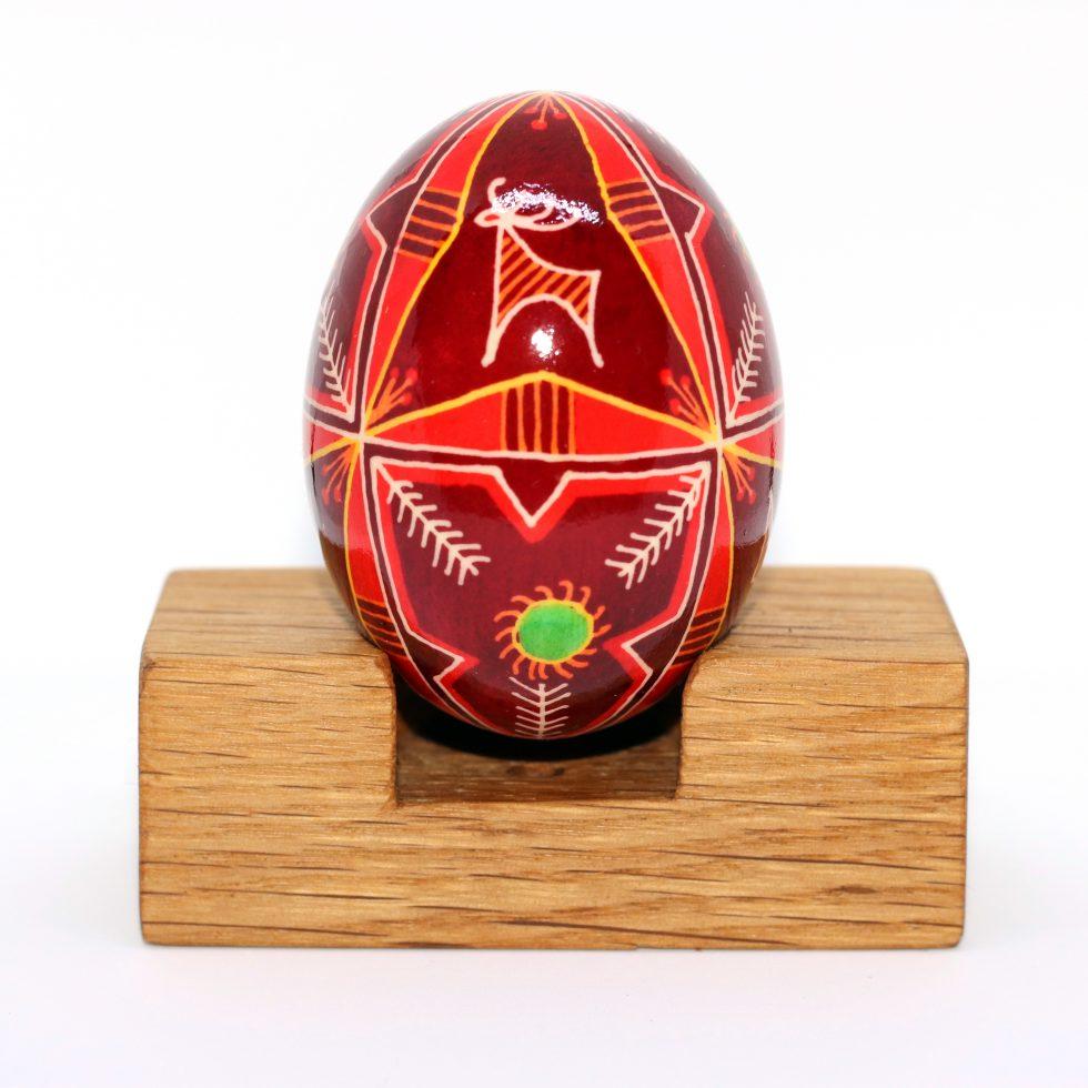 Hand written and dyed ukrainian egg