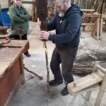Fitting besom handle