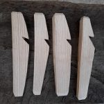 Finished tent pegs