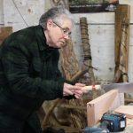 Jacquie sawing a rebate